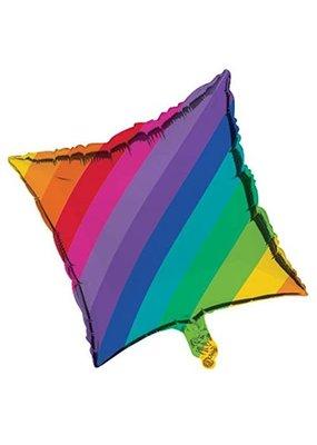 ***Rainbow Square Mylar Balloon