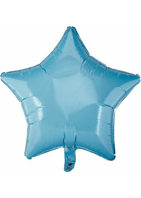 ***Pale Blue Star Mylar Balloon