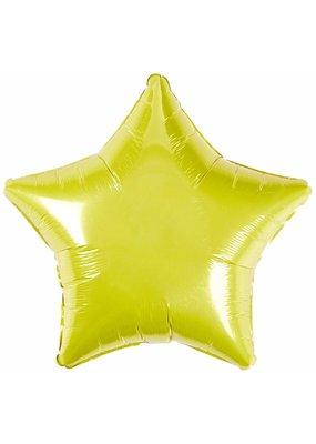 ***Yellow Star Mylar Balloon