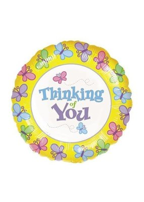 ***Thinking of You Butterflies Mylar Balloon