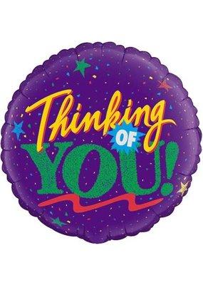 ***Purple Thinking of You Mylar Balloon