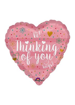 ***Thinking of You Heart Shape Mylar Balloon