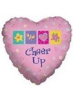 ***Pink Cheer Up Heart Mylar Balloon