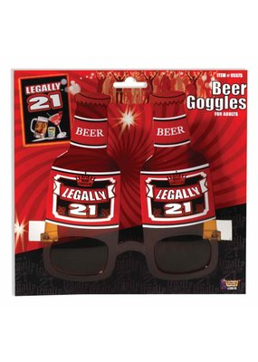 ***Legally 21 Beer Bottle Glasses