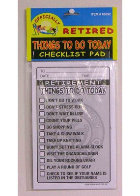 ***Retirement Checklist Pad Gift