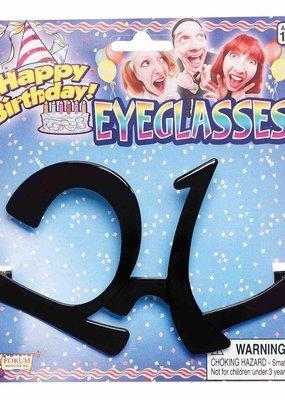 ***21st Black Eye Glasses