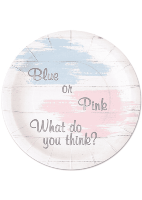 ***Pink or Blue 9in Plates