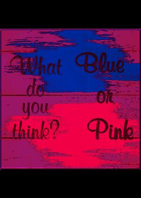 ***Pink or Blue Gender Reveal Lunch Napkins