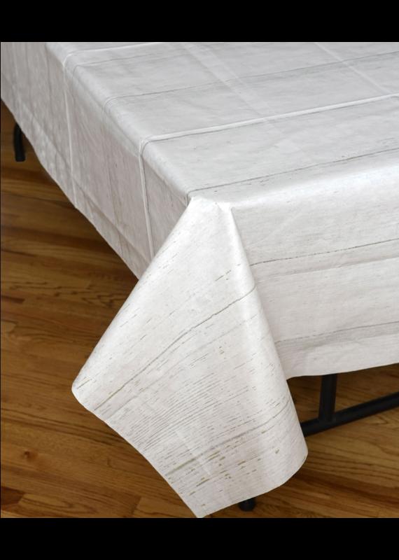 ****White Shiplap Plastic Tablecover/Backdrop