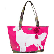 ***Pink Puppy Canvas Tote