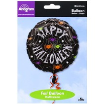 ***Spider Frenzy Halloween Mylar Balloon