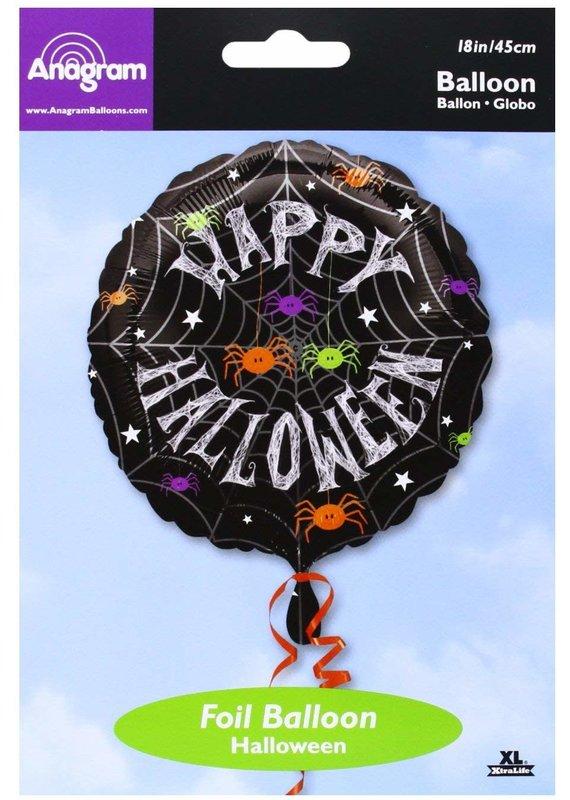 ****Spider Frenzy Halloween Mylar Balloon