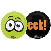***Halloween Mylar 2 Sided Eek Balloon