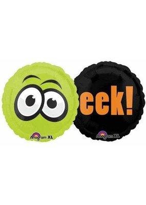 ***Halloween Mylar 2 Sided Eek Balloon