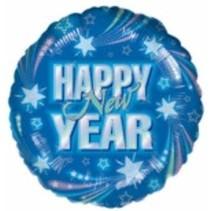 ***Blue Happy New Year Mylar Balloon