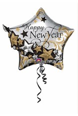 "***Happy New Year 27"" x 24"" Star Mylar Balloon"