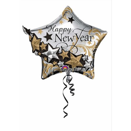 "***Happy New Year 27"" x 24"" Star Mylar Balloon"