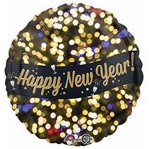 ***Happy New Year Celebration Mylar Balloon