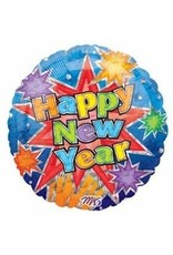 M&D industries ***Happy New Year Bright Colors Mylar Balloon