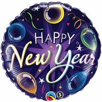 ***Blue & Purple Happy New Year Mylar Balloon