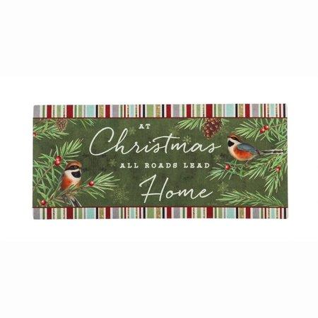 ***At Christmas All Roads Lead Home Sassafrass Switch Mat