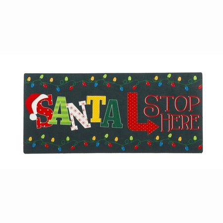 ***Santa Stops Here Sassafrass Switch Mat