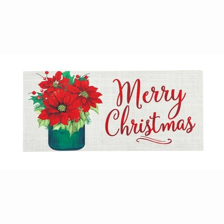 ***Poinsettia Mason Jar Sassafras Switch Mat