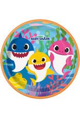 "***Baby Shark 9"" Plates 8ct"
