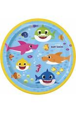 "***Baby Shark 7"" Dessert Plates 8ct"