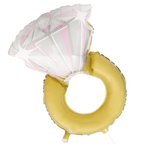 "***Diamond Ring 32"" Mylar Balloon"