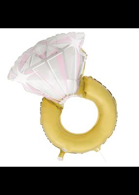 """***Diamond Ring 32"""" Mylar Balloon"""