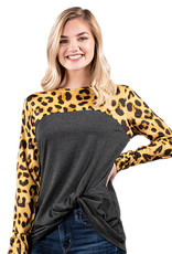***Cheetah Knot Top