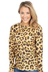 ***Cheetah Waffle Top