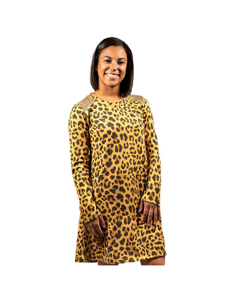***Cheetah Sequins Dress