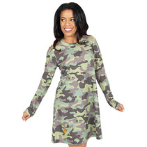 ***Camo Sequin Dress
