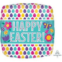 ***Happy Easter Square Mylar Balloon