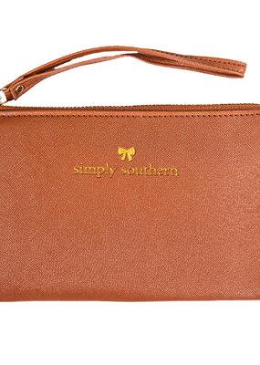***Leather Honey Wristlet