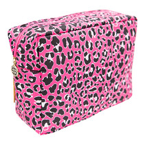 ***Pink Leopard Cosmo Bag