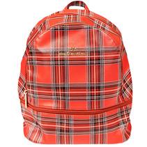 ***Tartan Leather Backpack