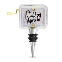 ***The Wedding March Music Box Wine Stopper