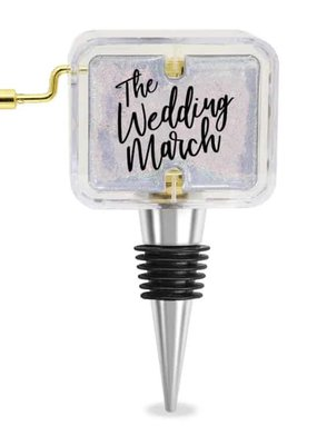 Wild Eye Designs ***The Wedding March Music Box Wine Stopper