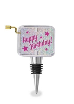 Wild Eye Designs ***Happy Birthday Music Box Wine Stopper