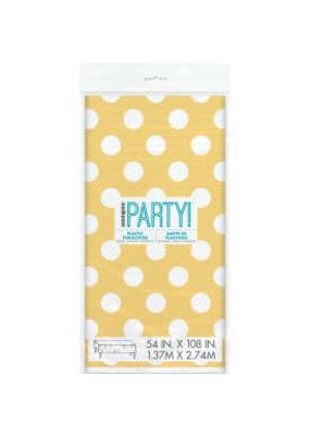 ***Yellow Polka Dot Tablecover