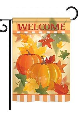 ***Welcome Fall Pumpkins Garden Flag