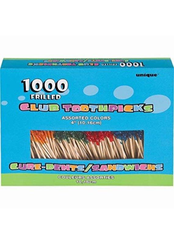 ***Frilled toothpicks 1000ct