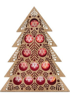 ***Lit Coffee Pod Tree Countdown