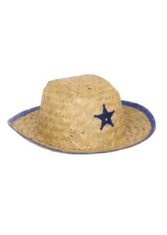 ****Child Sheriff Hat with Star (Blue or Red)