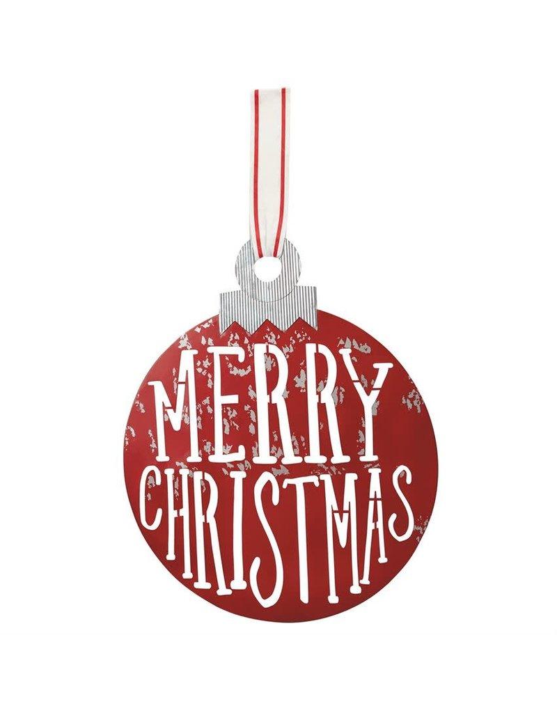 ***Merry Christmas Tin Ornament Door Hanger