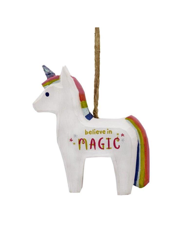 ***Believe in Magic Unicorn Wood Hallmark Ornament
