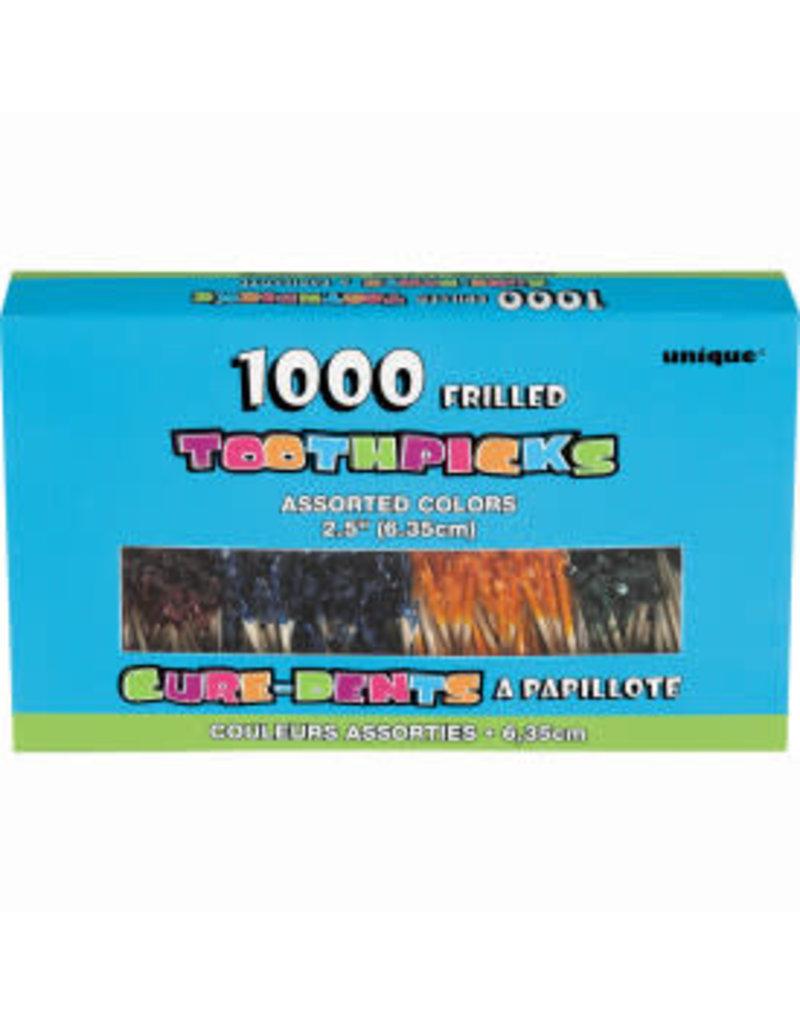 Frilled Toothpicks 1000ct Box